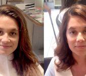 Antes&Depois: caracóis com Style Bar