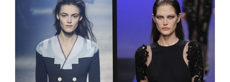Duelo de penteados: wet look grunge versus wet look chique